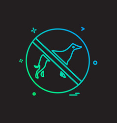 animal killing icon design vector image