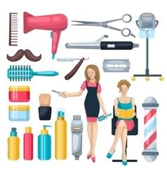 Beauty Salon Elements Set vector image