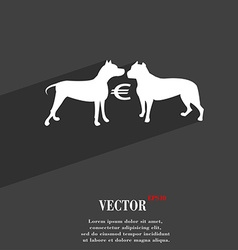 Betting on dog fighting symbol Flat modern web vector
