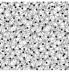 black and white network web seamless pattern vector image
