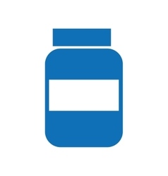 bottle drugs isolated icon design vector image