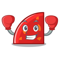 boxing quadrant character cartoon style vector image