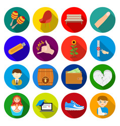 business trade sport and other web icon in flat vector image