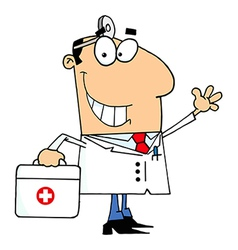 Cartoon doctor vector