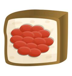 caviar sushi icon cartoon style vector image