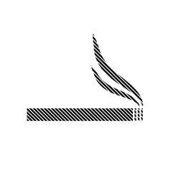 Cigarette sign on white vector