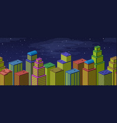 city seamless background vector image