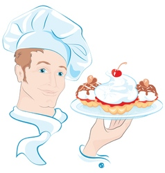 confectioner vector image