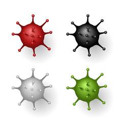 coronavirus 2019-ncov corona virus 3d icon set vector image