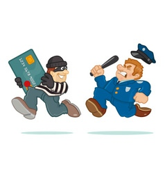 Credit Card Thief vector image