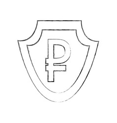 Currency such as shield ruble symbol foreign vector
