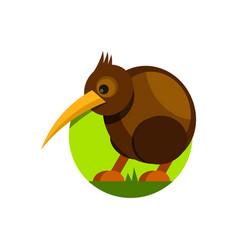 cute cartoon kiwi bird isolated vector image