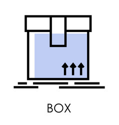 delivery service box or parcel isolated icon vector image
