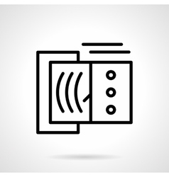 Devices tester black line icon vector