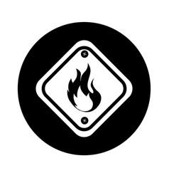Diamond caution sign icon vector
