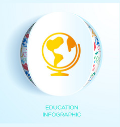 education learning infographic template vector image