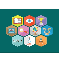 Flat composition educations components vector