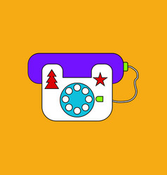 Flat icon design collection landline phone vector