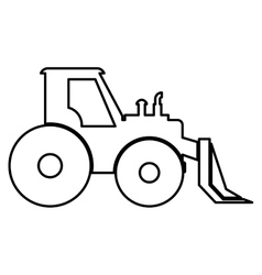 Forklift icon Under construction concept vector