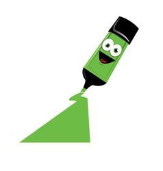 Funny Green Marker vector