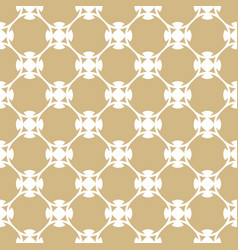 Golden pattern in arabian style white and gold vector