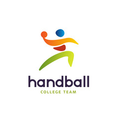 handball sign abstract colorful silhouette vector image