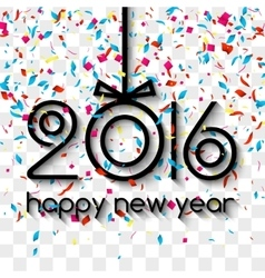 Happy New Year 2016 Creative Colorful Glitter vector