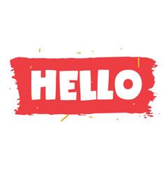 hello vector image
