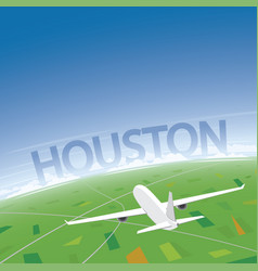 Houston flight destination vector