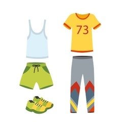 Jogging clothes vector image