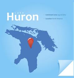 lake huron vector image