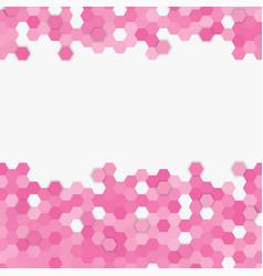 Light pink random hexagon mosaic tiles background vector