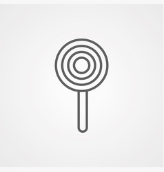 lollipop icon sign symbol vector image