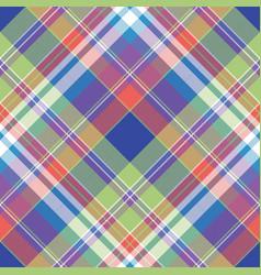 Madras pixel plaid seamless pattern vector