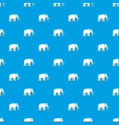 Mammoth pattern seamless blue vector