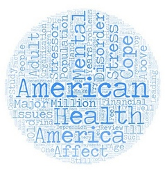 Mental health america text background wordcloud vector
