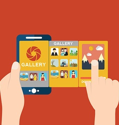 mobile app for camera and gallery vector image
