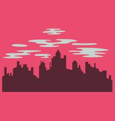 Night city dark urban scape night cityscape in vector