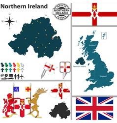 Northern Ireland map vector image