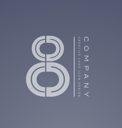Number 8 eight transparent logo icon design vector