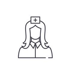 nurse line icon concept nurse linear vector image