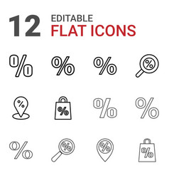 percent icons vector image