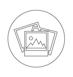 Photos icon design vector