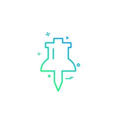 pin mark thumb pin icon design vector image