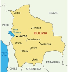 Plurinational State of Bolivia - map vector image