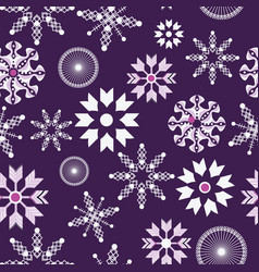 purple and white snowflakes christmas seamless vector image