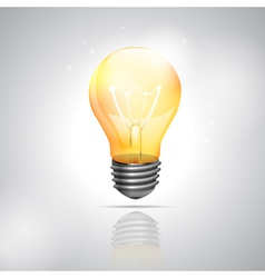 Realistic light bulb on the white background vector