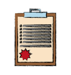 Report table with checklist icon vector