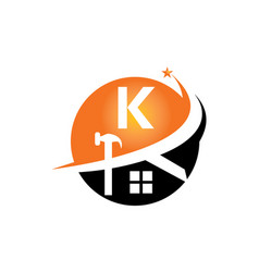 restorations and constructions initial k vector image