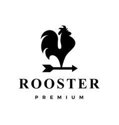 rooster arrow logo icon vector image